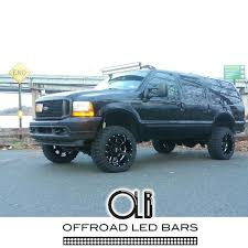 f250 led light bar 50 inch dual stacked led light bars complete setup for ford trucks