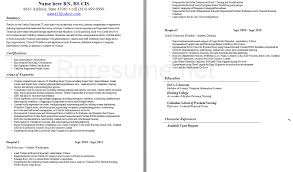 Resume Examples Nursing by Awesome To Do Er Nurse Resume 1 Nurse Resume Example Sample Nurse