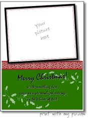 christmas photo cards christmas photo frames to print add any