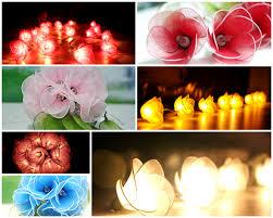 String Of Flower Lights by Flower Lights White Colour