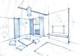 Living Room Design Drawing Modern House Drawing Perspective Floor Plans Design Architecture