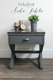 Homemade Wooden Bedside Table by Best 25 Industrial Side Table Ideas On Pinterest Industrial