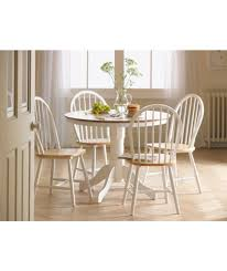 buy kentucky white natural fixed top dining table and 4 chairs at