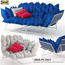 Dark Blue Loveseat 3d Models Sofa Sofa And Armchair Ikea Ps 2017 36 Loveseat With