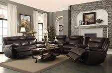 leather livingroom sets leather living room set ebay