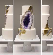 giant wedding cakes eating rocks amethyst cake looks like a giant geode geekologie