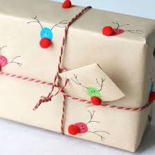 Gift Wrapping How To - fingerprints to reindeer gift wrap diy christmas gift wrapping