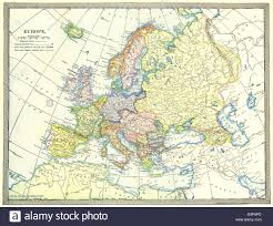 Political Europe Map by Europe Political Austria Hungary Turkey In Europe 1907 Antique