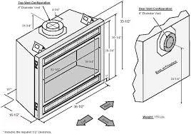 Fireplace Insert Dimensions by 564 Diamond Fyre Fireplace Xtrordinair