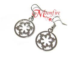 wars earrings wars galactic empire silver imperial crest earrings