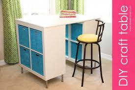 Craft Room Tables - make a counter height craft table from 2 shelves a table top