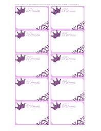printable name tags princess labels free printable kids labels free