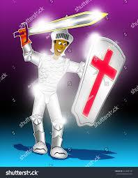christian soldier wearing armor god stock illustration 214868176