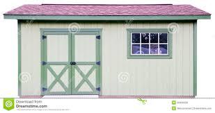 backyard wood storage shed isolated on white royalty free stock