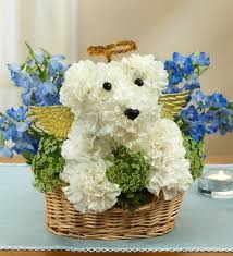 dog flower arrangement all dogs go to heaven ma florist same day flower