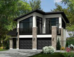 Garage Loft Plans 062g 0081 2 Car Garage Apartment Plan With Modern Style 2 Car