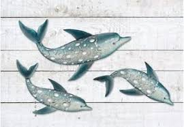 metal dolphin ring holder images Dolphin fish wall art metal coastal nautical beach indoor outdoor jpg