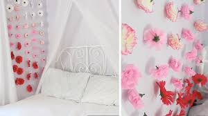 Wall Flower Decor by Apartment Decor Diy Flower Wall Chains Youtube