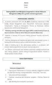 human resource resume hr resume objectif junius me