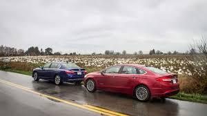 ford fusion 2017 ford fusion hybrid vs 2017 honda accord hybrid comparison test