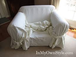 White Armchair Slipcover Attractive Armchair Slipcovers Simple White Denim Slipcover For
