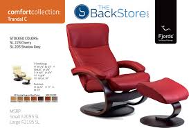 Sleek Recliner by Fjords Trandal Ergonomic Leather C Frame Recliner Chair Ottoman
