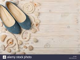 women u0027s summer shoes for beach holidays selective focus stock