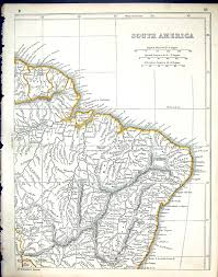 Equator Map South America by Old Print Antique And Victorian Art Prints Paintings World Maps