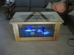 extraordinary glass coffee table plus led lighting ideas