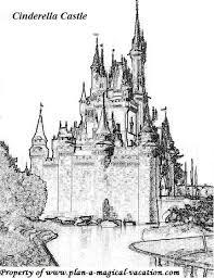 Disney Coloring Page Cinderella Castle Adult Color Pages Coloring Pages Castles