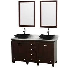 Double Vanity Units For Bathroom by Wyndham Collection Andover 60 In Vanity In Antique Black With