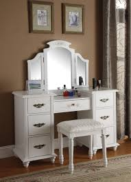 bedroom small bedroom vanity set with storage and tri fold