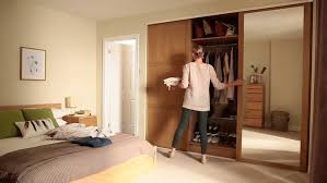 Closet With Mirror Doors Bedrooms Closet Mirror Closet Doors Cheap Mirrored Wardrobe
