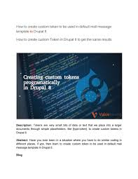 drupal different templates for different pages how to create custom token to be used in default mail message