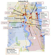 Amelia Island Florida Map Map Jacksonville Florida Afputra Com
