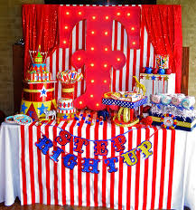 Circus Birthday Decorations Circus Themed Birthday Party Carnival Party Theme Circus