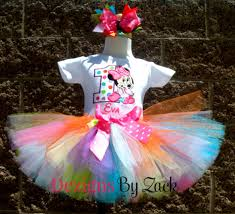 baby minnie mouse tropical colorful dots first birthday tutu