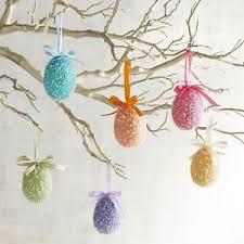 glitter easter egg ornaments pier 1 imports 6 glitter easter egg ornaments ebay
