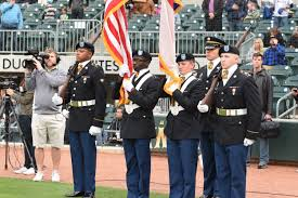 Charlotte Flag Newberry College Rotc Color Guard Performs Opening Ceremony For