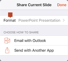 share a single powerpoint slide with someone else office support