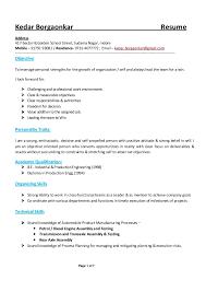 exle of a chronological resume resume kedar borgaonkar 6 apr 16
