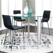 bar height glass table triangular dining table set bar height dining room table round
