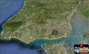 Cascais Portugal Map Lisbon Marathon Race Course