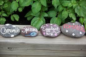 diy painted rock garden markers the garden corner