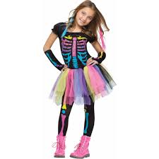 Softball Halloween Costumes Funky Punky Bones Child Halloween Costume Walmart