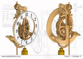 Free Wood Gear Clock Plans by Clock11