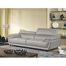 canapé gris perle la maison du canapé canapé cuir 3 places baya cuir supérieur