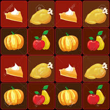 a vector illustration of thanksgiving food items royalty free
