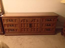 Thomasville Bedroom Furniture Prices by Vintage Solid Thomasville Oak Wood Bedroom Furniture Set Dresser
