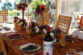 dining room thanksgiving table settings idea with artificial